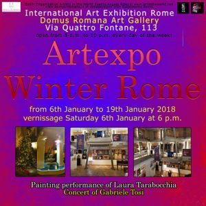 Flyer fronte artexpo winter rome 2018 r